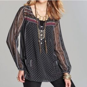 Free People Feather in the Wind Beaded Tunic Top